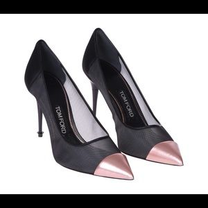 NEW Tom Ford Pointed Toe Mixed Mesh 85mm Pumps